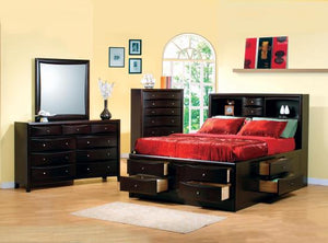 King Deep Cappuccino 4 Piece Bedroom Set