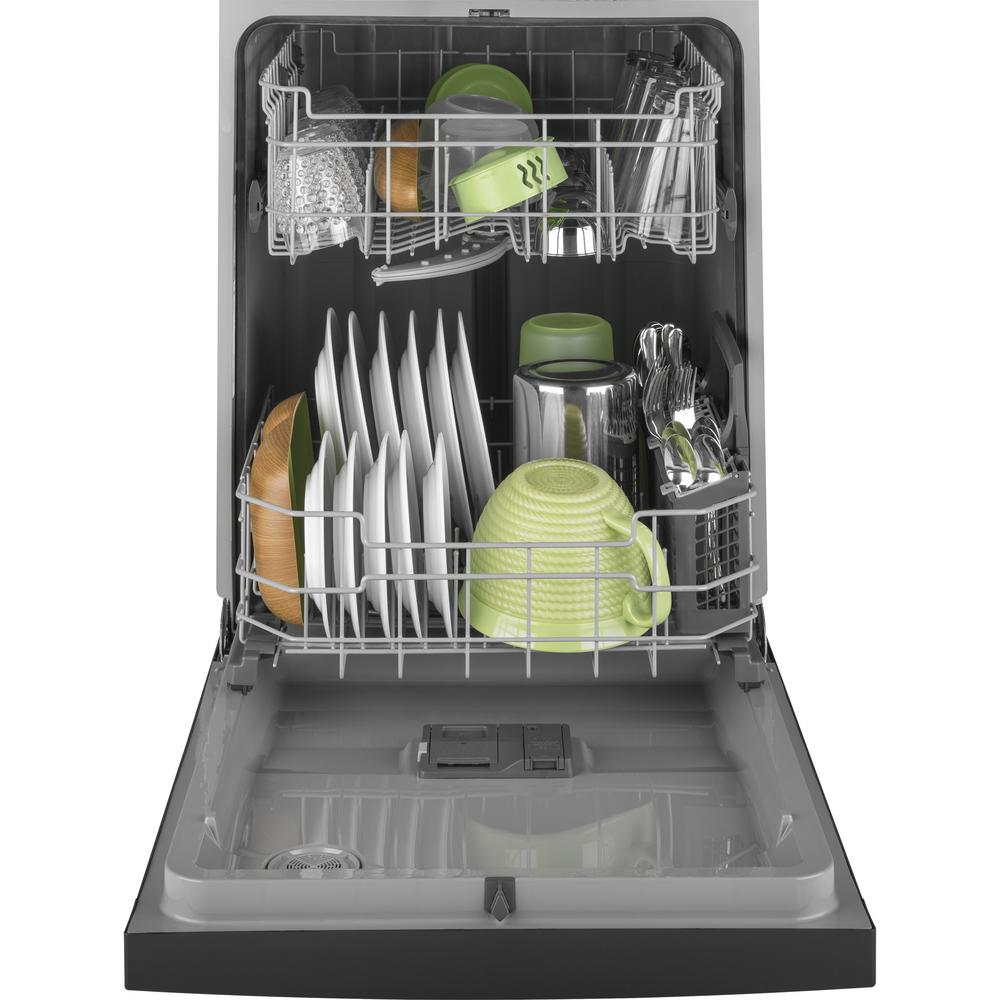 GE 24 in. Front Control Built-In Tall Tub Dishwasher in Black, 59 dBA