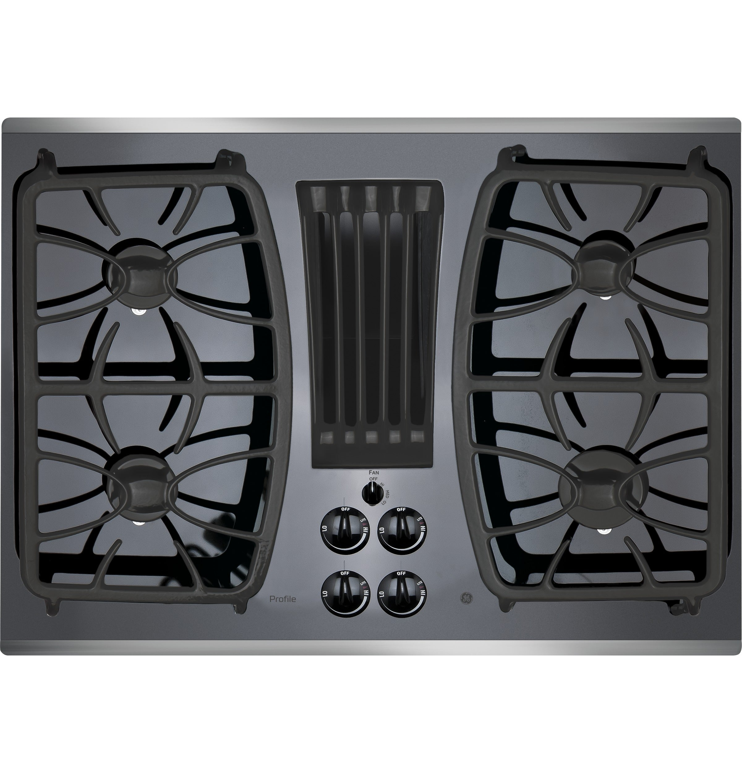 Ge Profile 30 Built In Gas Downdraft Cooktop In Stainless Steel Royal Appliances