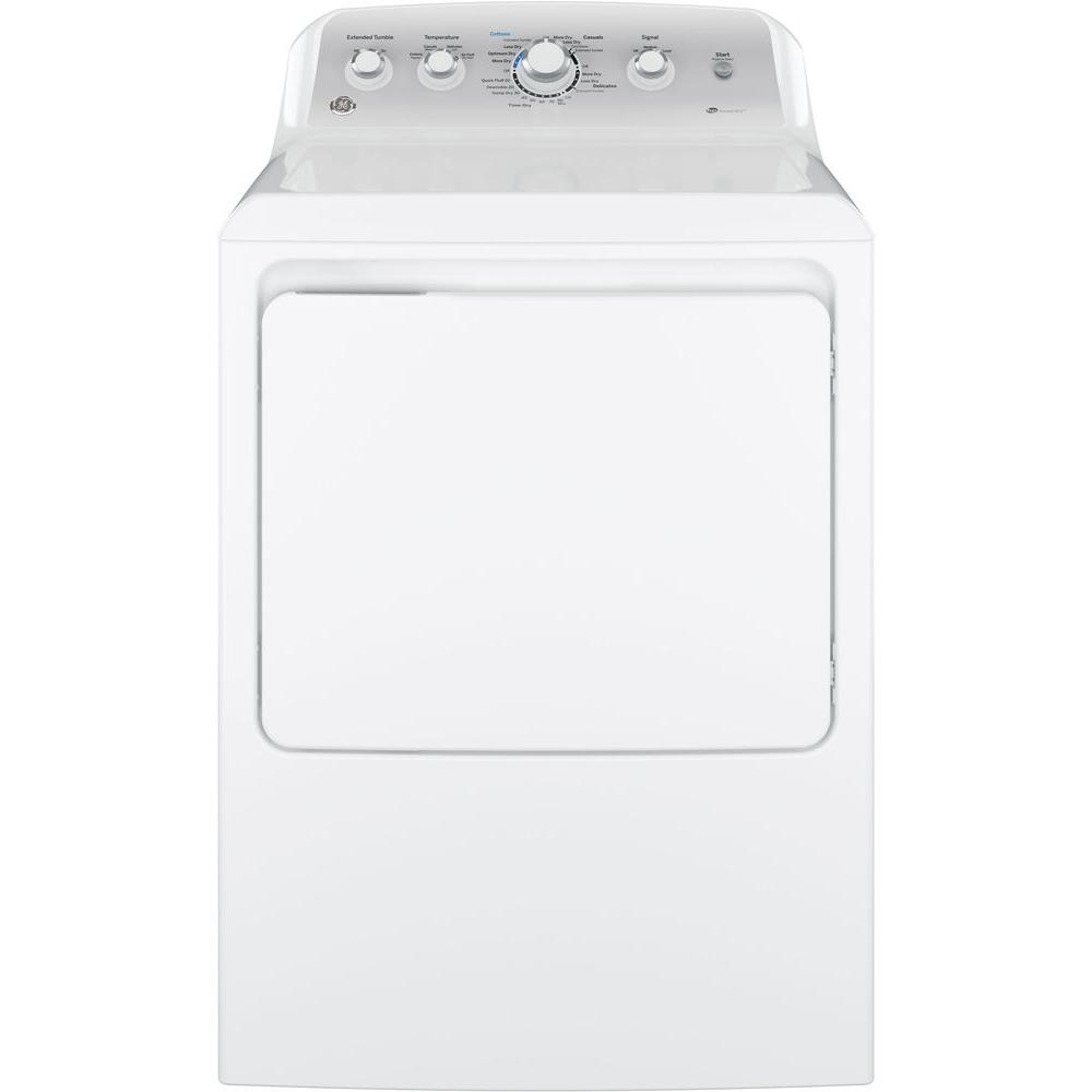 GE 7.2 cu. ft. 120 Volt White Gas Vented Dryer Model GTD45GASJWS