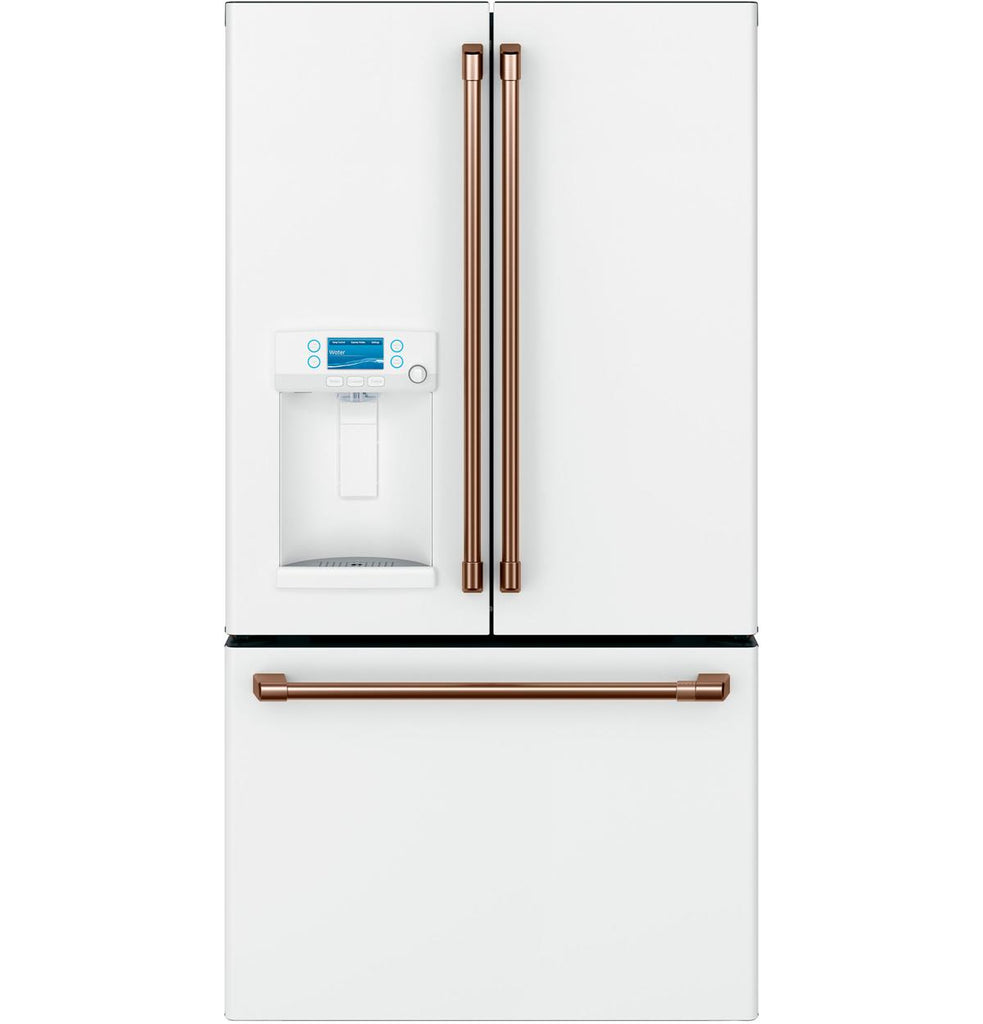 GE Café™ ENERGY STAR® 27.8 Cu. Ft. French-Door Refrigerator with Hot Water Dispenser And Copper Handles