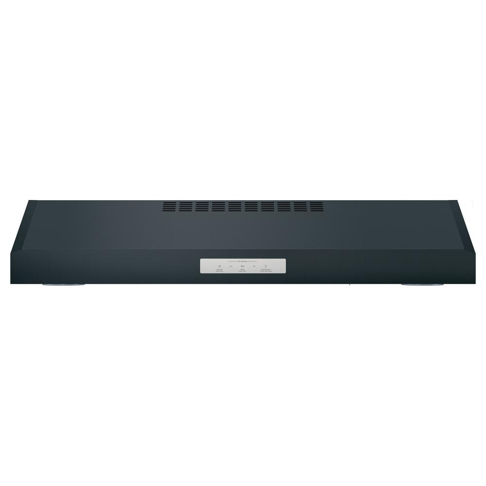 GE Profile 30 in. Convertible Under the Cabinet Range Hood with LED Light in Black Slate Model PVX7300FJDS