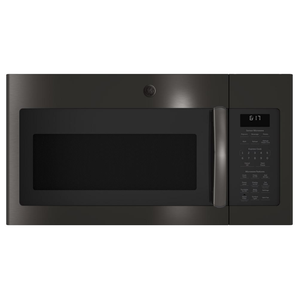Trending GE 1.7 cu. ft. Over the Range Microwave with Sensor Cooking in Black Stainless Steel, Fingerprint Resistant Model JVM6175BLTS