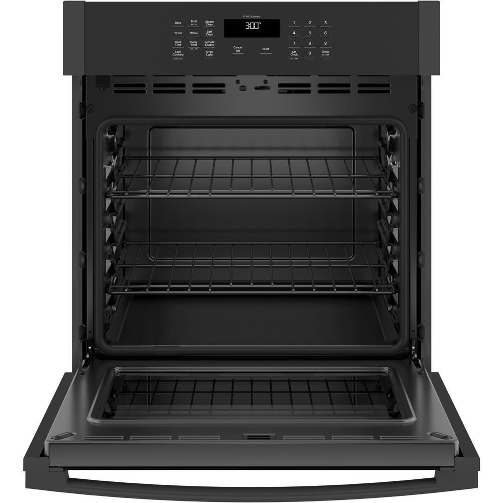 GE 27 in. Smart Single Electric Wall Oven Self-Cleaning Available in Black,White, and Stainless Steel