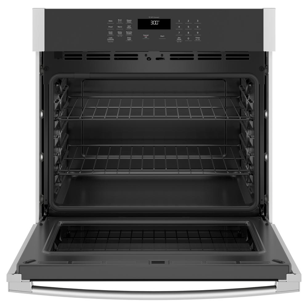 GE 30 in. Single Electric Wall Oven Self-Cleaning in Stainless Steel