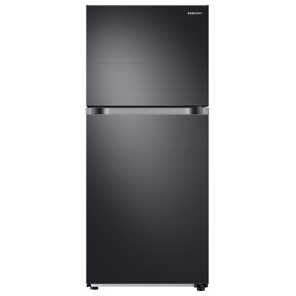 Samsung 17.6 cu. ft. Top Freezer Refrigerator with FlexZone Freezer in Black Stainless (RT18M6213SG)