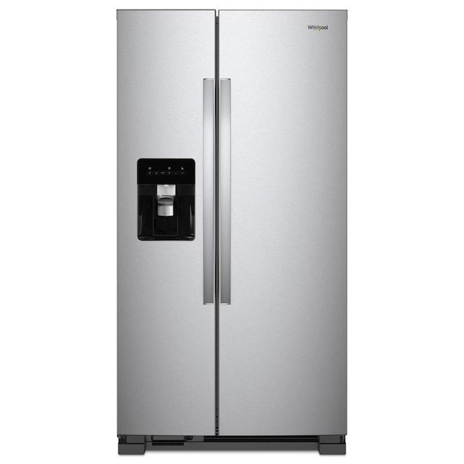 Whirlpool 24.6-cu ft Side-by-Side Refrigerator with Ice Maker (WRS315SDHZ04)