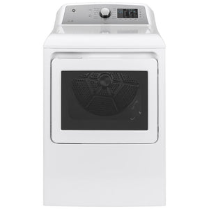 GE 7.4 cu. ft. White Gas Vented Dryer, ENERGY STAR Model GTD72GBSNWS