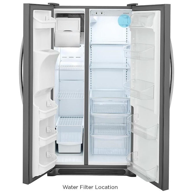 Frigidaire 25.5-cu ft Side-by-Side Refrigerator with Ice Maker (LFSS2612TF4)