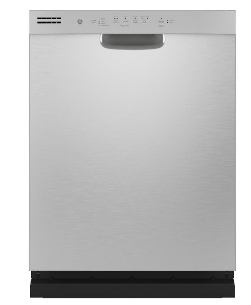 GE Front Control Tall Tub Dishwasher in Stainless Steel with Stainless Steel Tub and Steam Prewash, 50 dBA model GDF565SSNSS