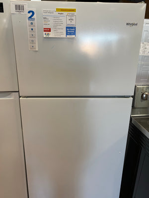 Whirlpool 18.2 cu. ft. Top Freezer Refrigerator in White (WRT318FZDW)