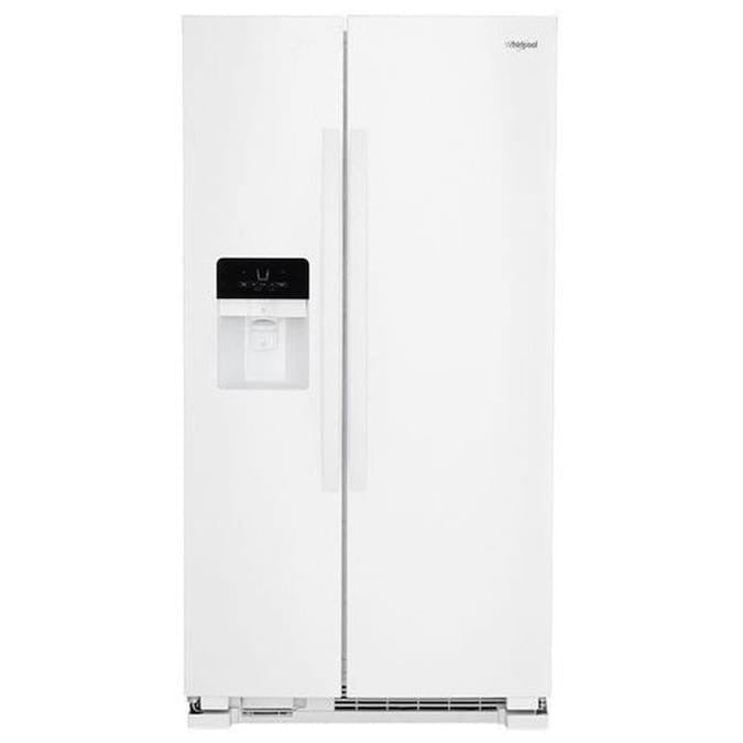 Whirlpool 24.5-cu ft Side-by-Side Refrigerator with Ice Maker (WRS325SDHW)