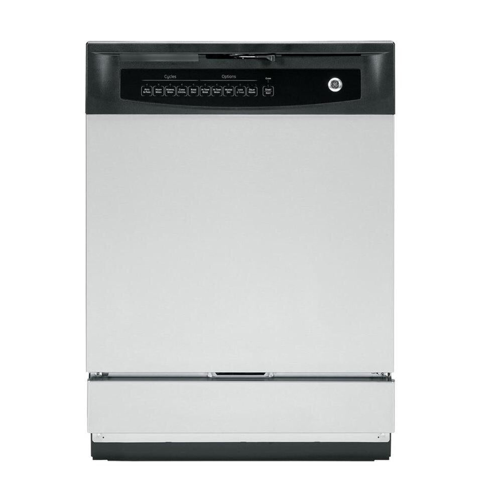 GE Front Control Dishwasher in Stainless Steel, 60 dBA
