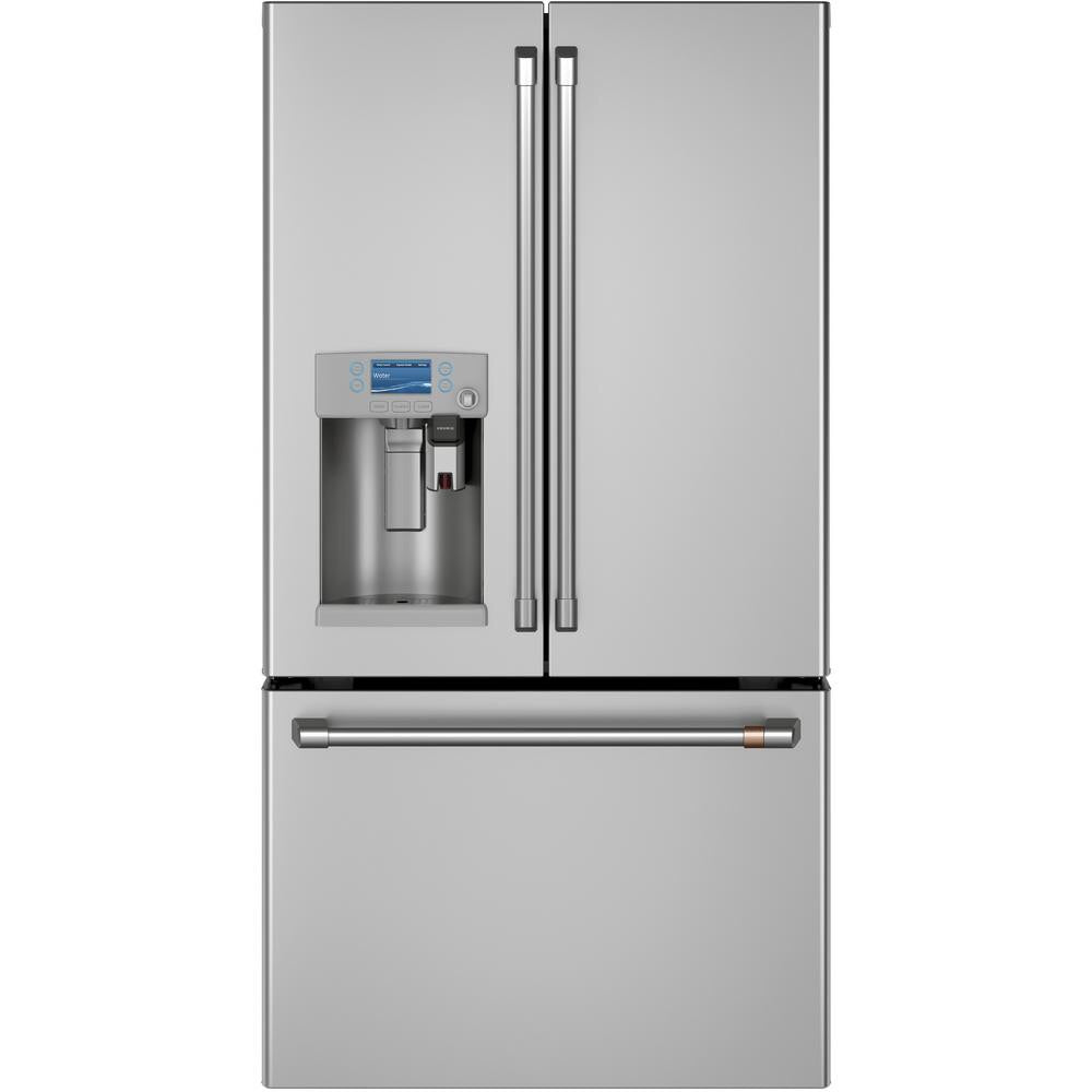 GE Cafe 27.8 cu. ft. Smart French Door Refrigerator with Keurig K-Cup and Wi-Fi in Stainless Steel, ENERGY STAR Model CFE28UP2MS1