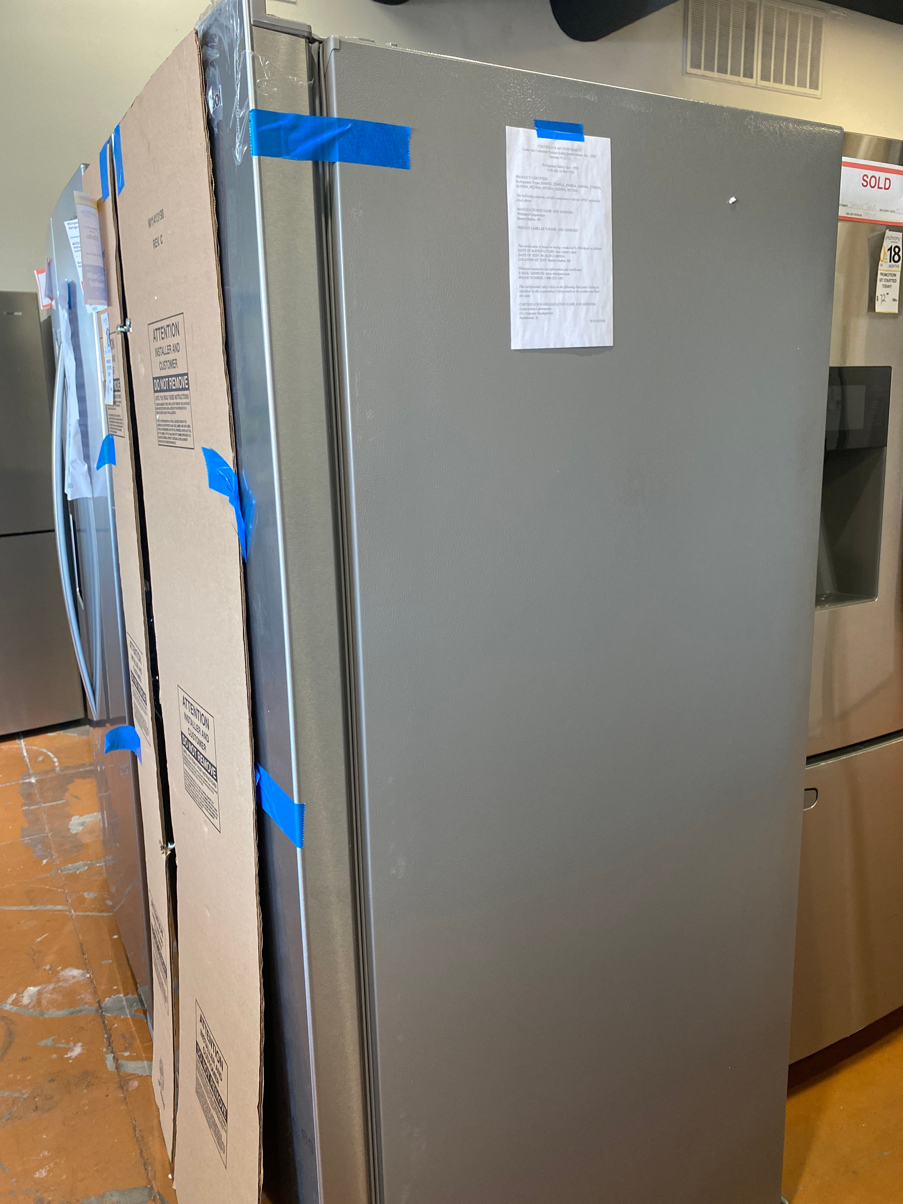 Whirlpool Stainless steel side by side model wrs321sdhz04
