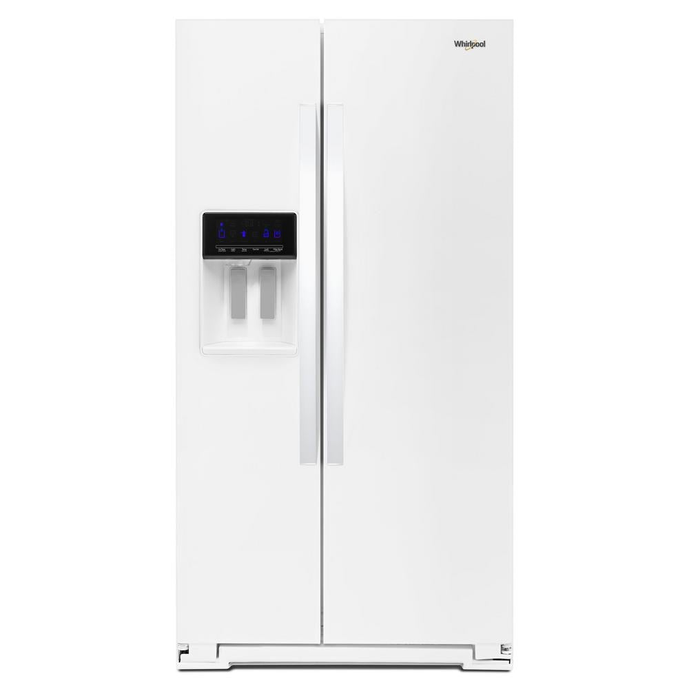 Whirlpool 28 cu. ft. Side by Side Refrigerator in White (WRS588FIHW)