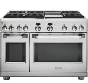 "Monogram 48"" All Gas Professional Range with 6 Burners and Griddle (Natural Gas) ZGP486NDRSS"
