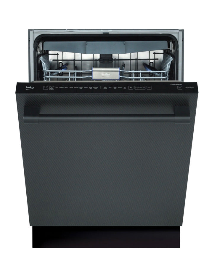 Beko Carbon Fiber, Top Control, Pro Handle Dishwasher, 9 Programs, 39 dBA DDT39432CF