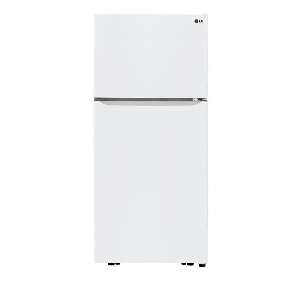 LG 30 in. 20 cu. ft. Top Freezer Refrigerator in White (LTCS20020W)