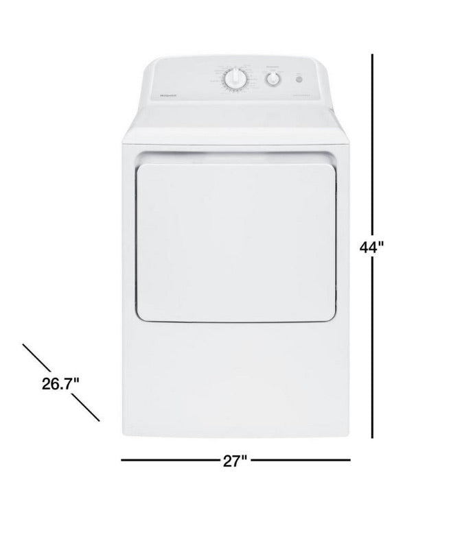 Hotpoint 6.2 cu. ft. 120 Volt White Gas Vented Dryer