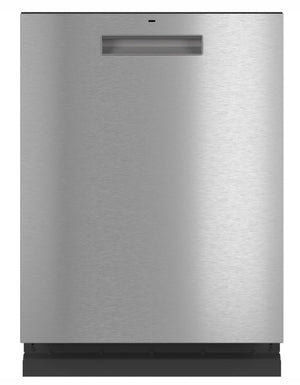 GE Cafe Top Control Tall Tub Dishwasher in Platinum Glass with Stainless Steel Tub and Steam Cleaning, 45 dBA Model CDT845M5NS5