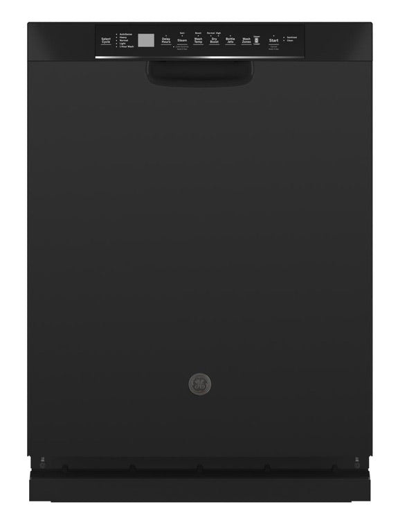 GE Front Control Tall Tub Dishwasher in Black with Stainless Steel Tub and Dry Boost, 48 dBA Model GDF645SGNBB