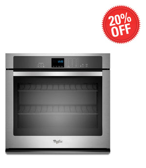 Whirlpool 30 in. Single Electric Wall Oven Self-Cleaning in Stainless Steel