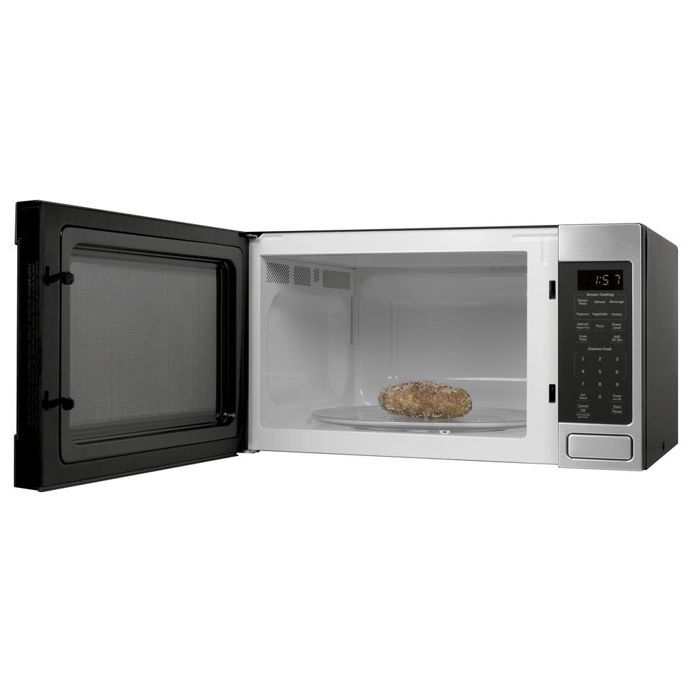 GE 1.6 cu. ft. Countertop Microwave in Stainless Steel with Sensor Cooking Model JES1657SMSS