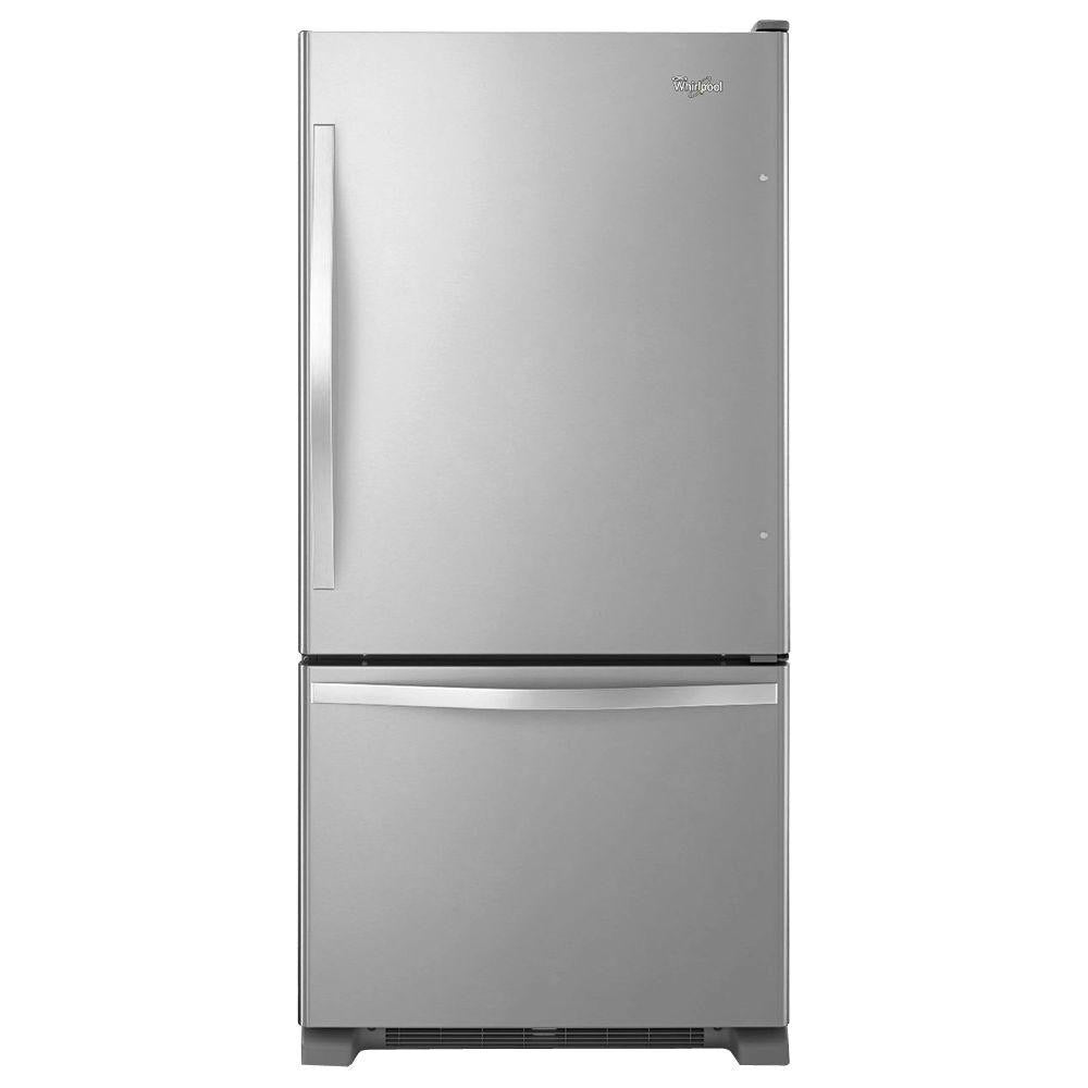Whirlpool 22 cu. ft. Bottom Freezer Refrigerator in Stainless Steel(WRB322DMBM)