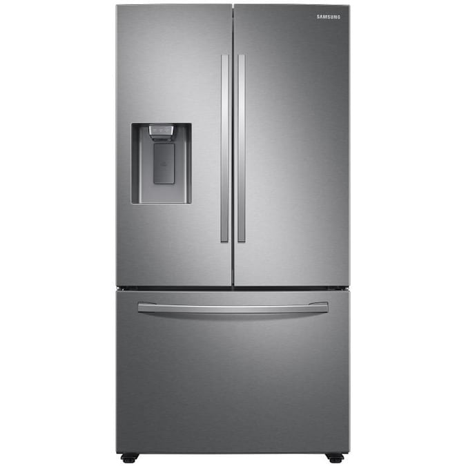 Samsung 27-cu ft French Door Refrigerator with Dual Ice Maker (RF27T5241SR)