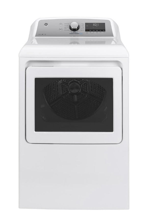 GE 7.4 cu. ft. Smart White Vented Electric Dryer with Steam, ENERGY STAR Model GTD84ECSNWS