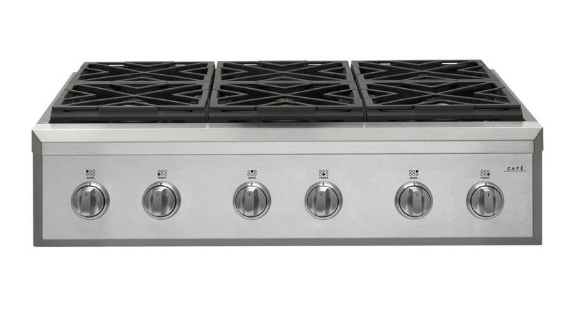 GE Cafe 36 in. Gas Cooktop in Stainless Steel with 6 Burners (CGU366P2MS1)