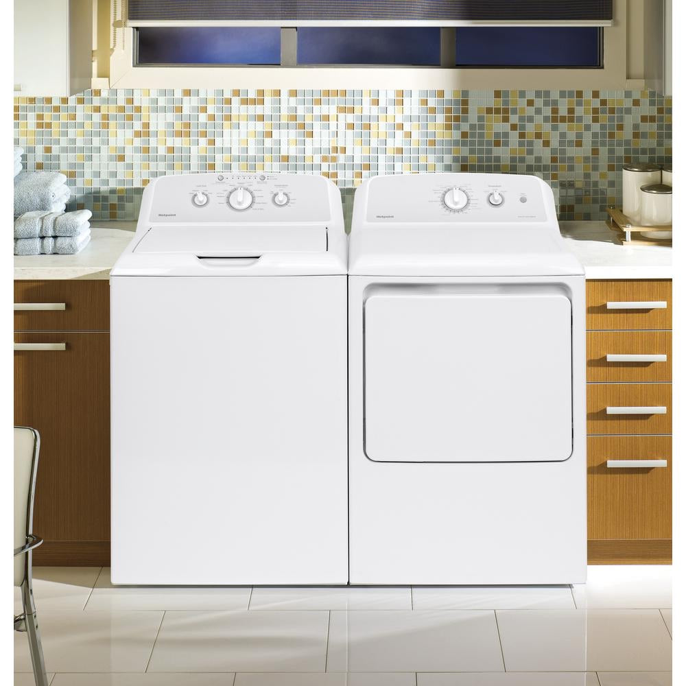 Hotpoint Washer & Dryer Gas Set white top load