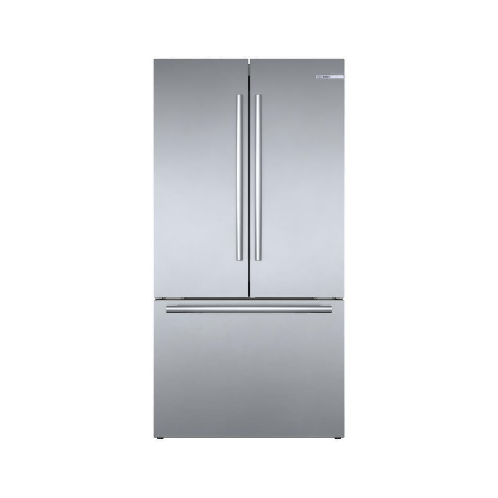 Bosch - 800 Series 21 Cu. Ft. French Door Counter-Depth Refrigerator(B36CT80SNS)