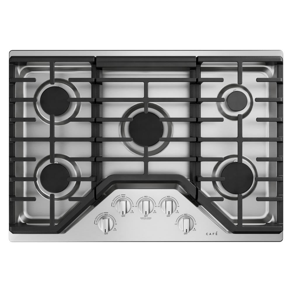 Café 30 in. Gas Cooktop in Stainless Steel and Brushed Stainless  (CGP70302NS1)
