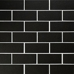 RETRO NERO 2X4X6MM MATTE PORCELAIN (SQ FT)