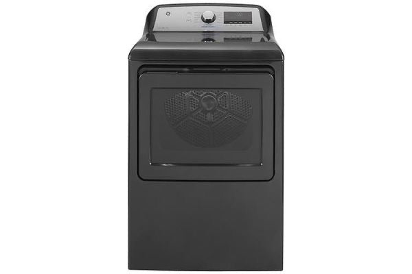 GE 5.0 cu. ft. High-Efficiency Diamond Gray Top Load Washer And 7.4 cu. ft. Gas Dryer Set. (GTW845CPNDG/GTD84GCPNDG)