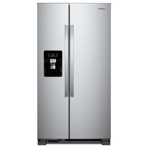 Whirlpool 25 cu. ft. Side by Side Refrigerator in Fingerprint Resistant Stainless Steel (WRS315SDHZ05)