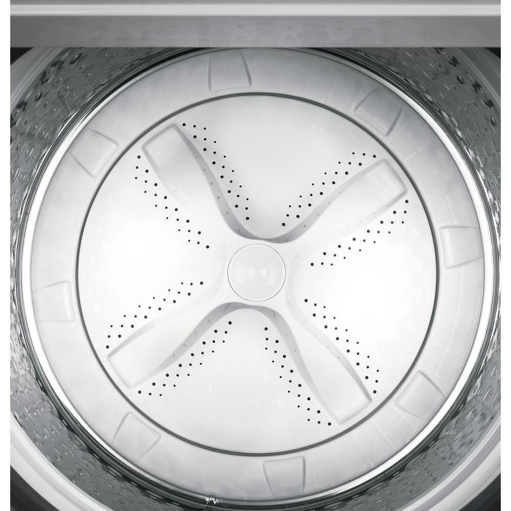 GE 4.5 ft High- Efficiency Top Load  White Washing Machine / 7.4 Cu.ft Smart 120 Volt Electric Dryer