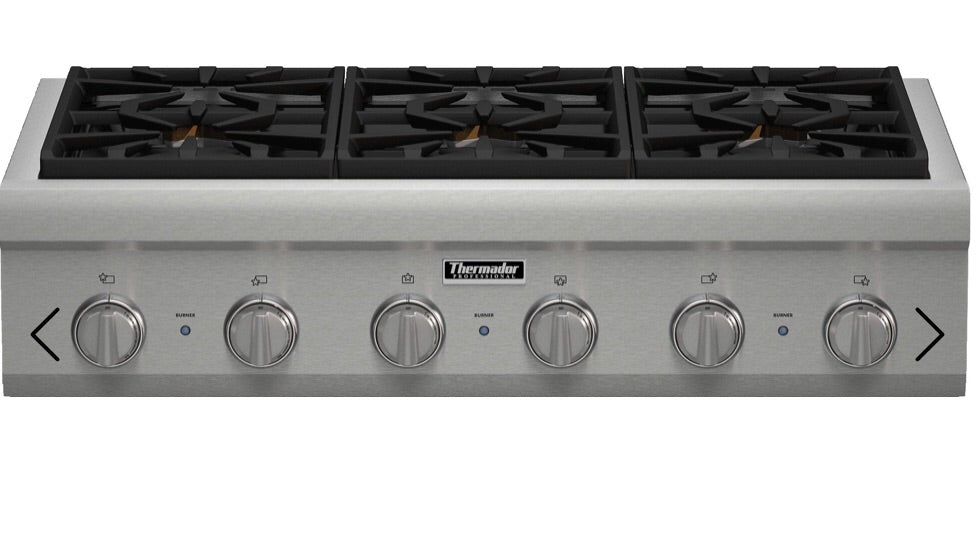 Thermador 36-Inch Professional Rangetop Model PCG366G