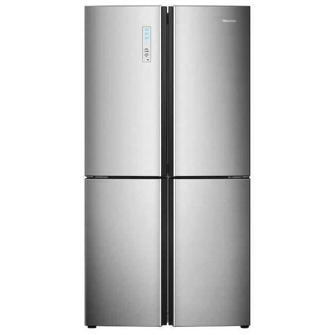 Hisense 20-cu ft 4-Door Counter-depth French Door Refrigerator (HDQ20058SV)