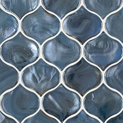 BLUE SHIMMER ARABESQUE GLASS 8MM ( Per Piece)