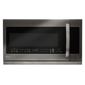 Lg Black Stainless Steel Over the Range Microwave