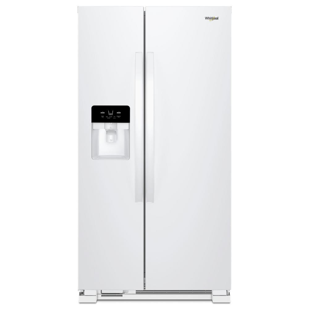 Whirlpool 25 cu. ft. Side by Side Refrigerator in White (WRS325SDWW)