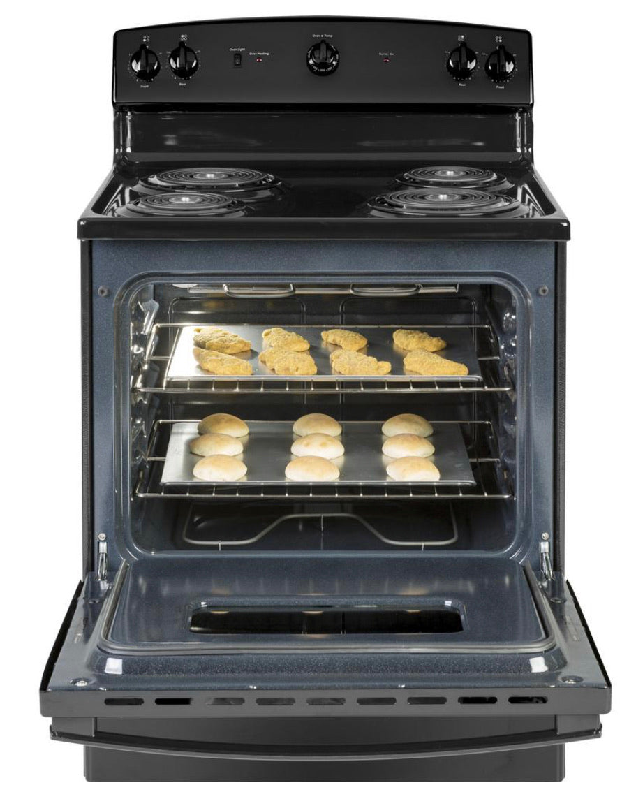 GE  30 in. 5.0 cu. ft. Electric Range in Black JBS160DMBB