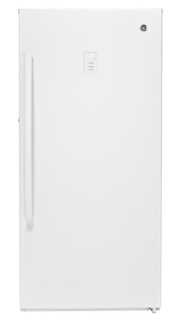 GE Garage Ready 14.1 cu. ft. Frost Free Upright Freezer in White, ENERGY STAR