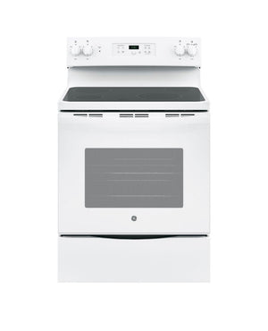 GE 30 in. 5.3 cu. ft. Electric Range in White model JBS60DKWW