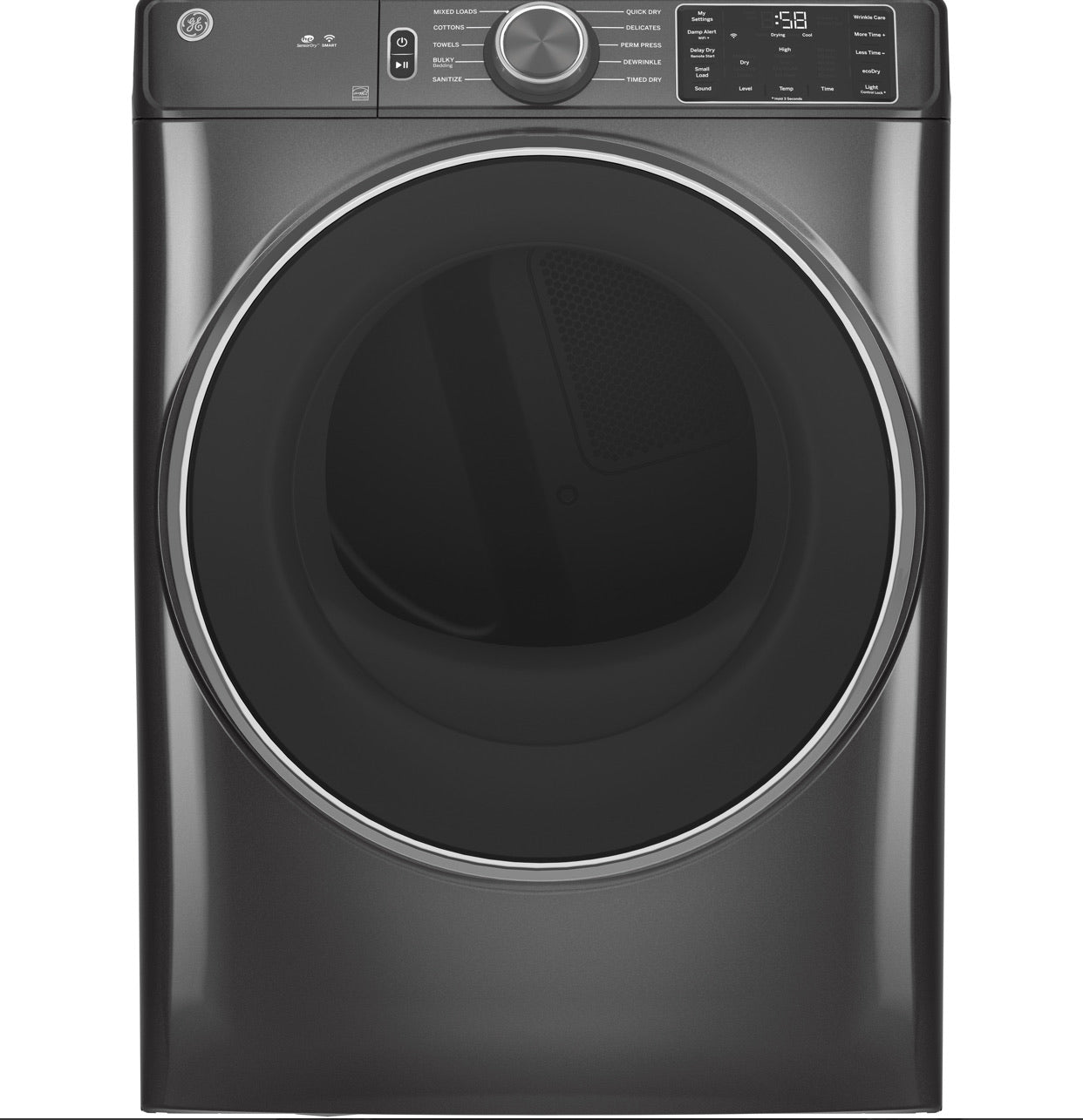 GE® 4.8 CU. FT. CAPACITY SMART FRONT LOAD ENERGY STAR® WASHER WITH ULTRAFRESH VENT SYSTEM WITH ODORBLOCK™ - GFW550SPNDG GE® &  GE 7.8 cu. ft. Capacity Smart Front Load Gas Dryer GFD55GSPNDG
