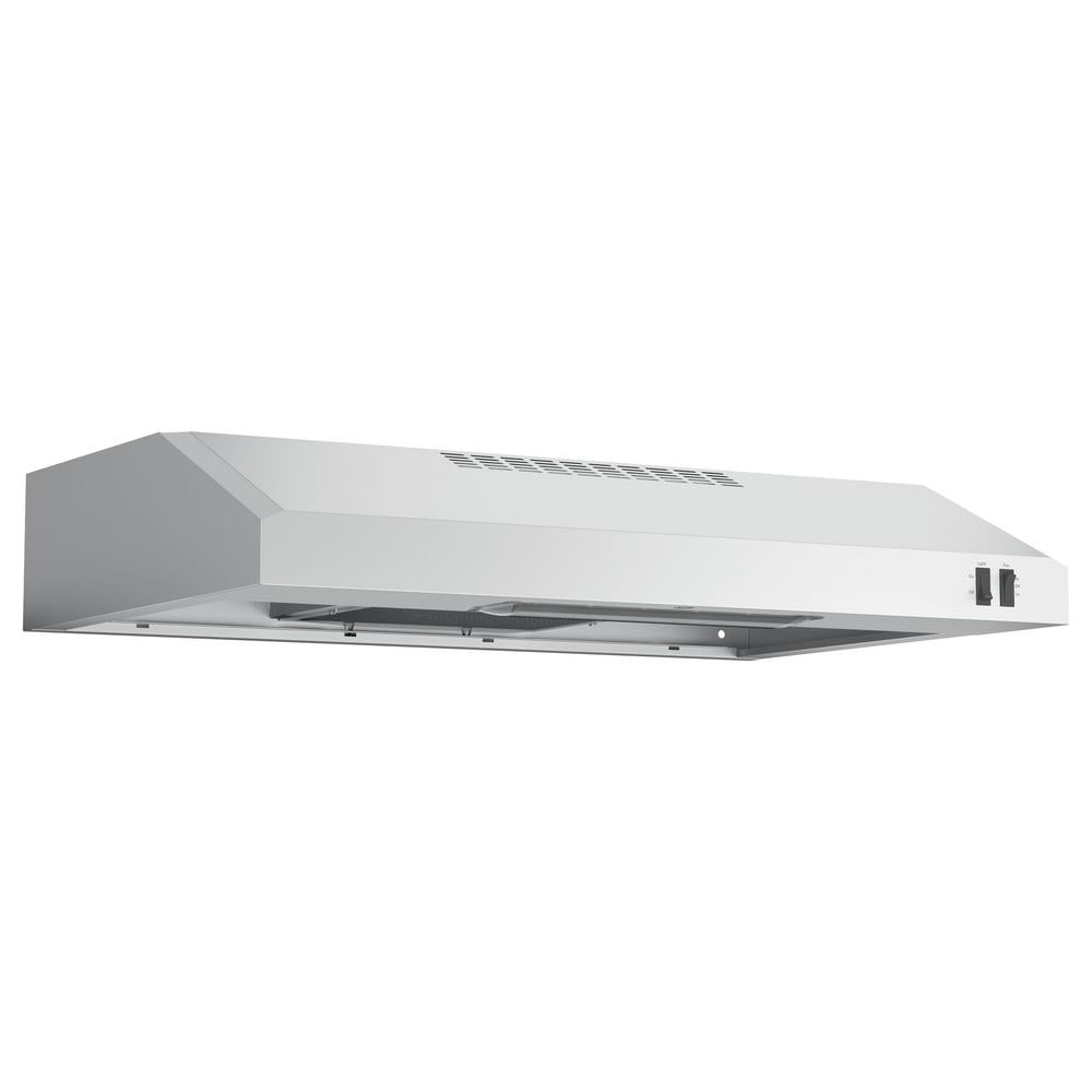 GE 30 in. Under Cabinet Convertible Range Hood in Stainless Steel