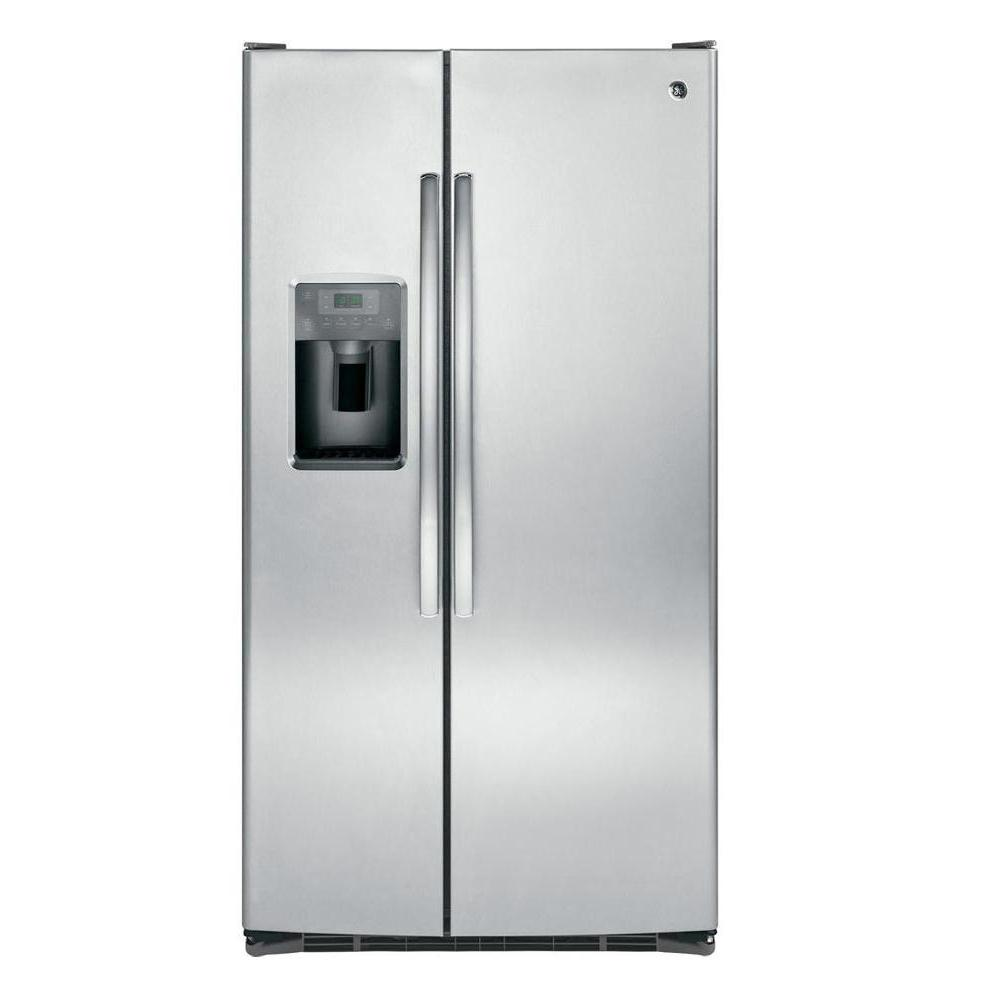 GE 25.3 cu. ft. Side by Side Refrigerator in Stainless Steel, ENERGY STAR
